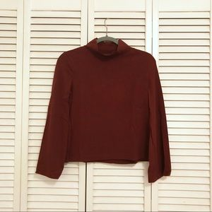 Madewell Bell-Sleeved Turtleneck Top